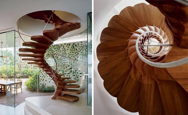 gabinetes cajones toboganes y paredes de vidrios son algunos de los elementos que pueden aadirse a las escaleras para hacerlas nicas
