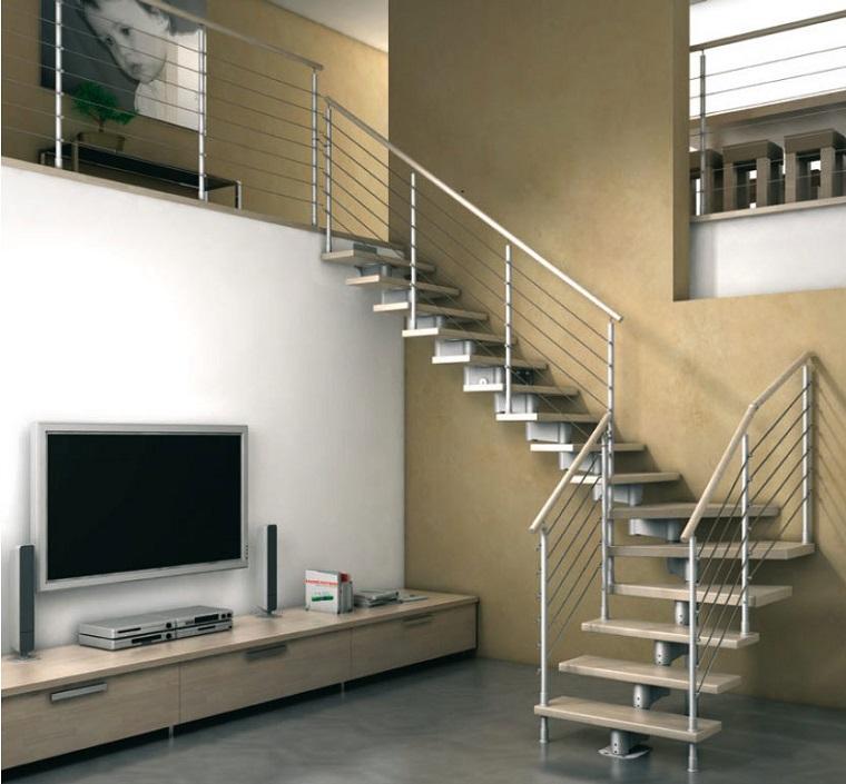 sin embargo otros prefieren que sean las escaleras el elemento central de la zona y seleccionan aquellas en forma de caracol perfectas para