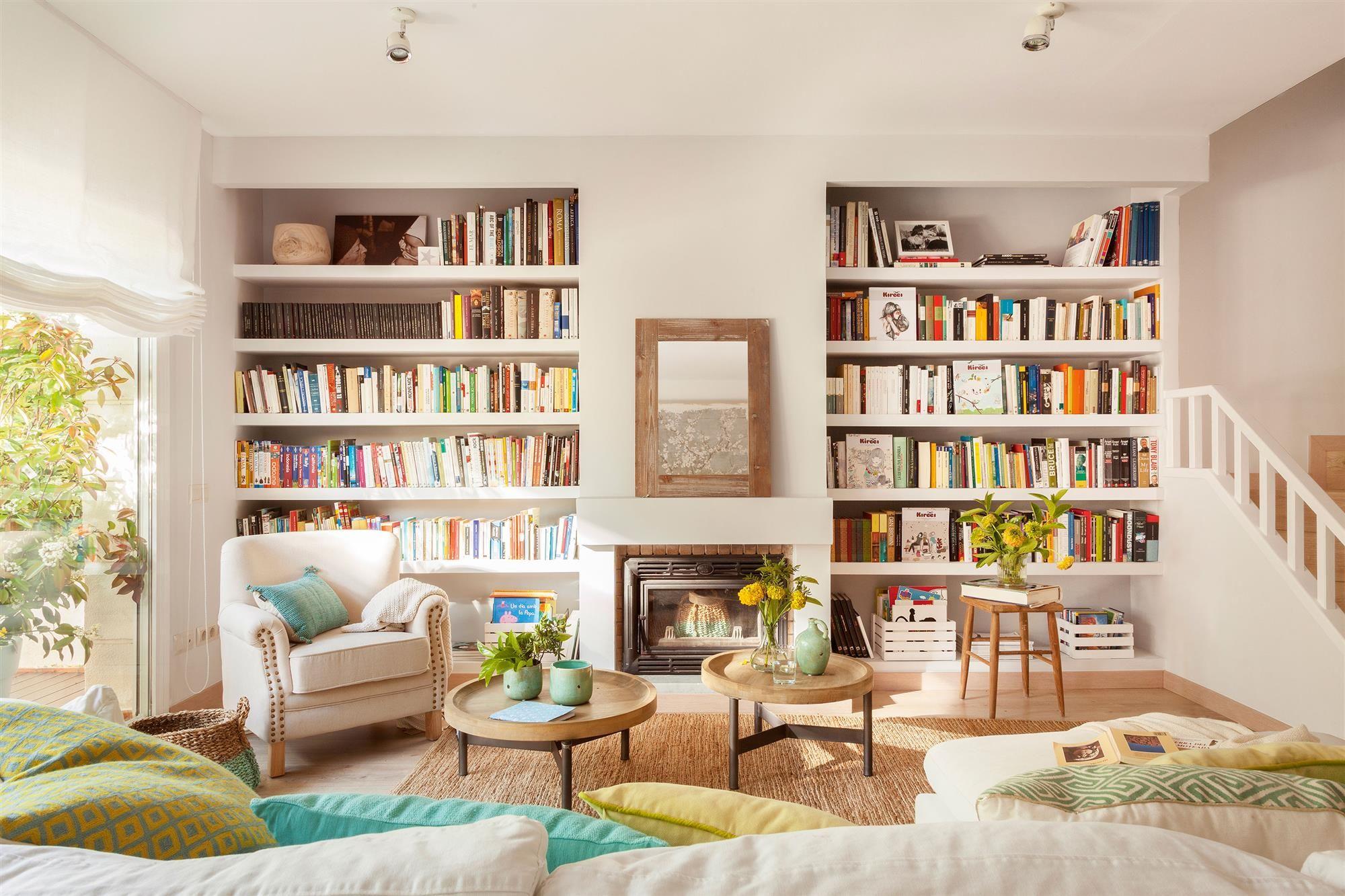 Bibliotecas decorativas una opci n que no pasa de moda - Mesas de libro para salon ...