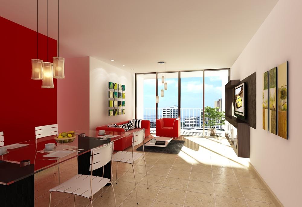 Comedor estilo y colores construarte c a for Decoracion salas minimalistas modernas